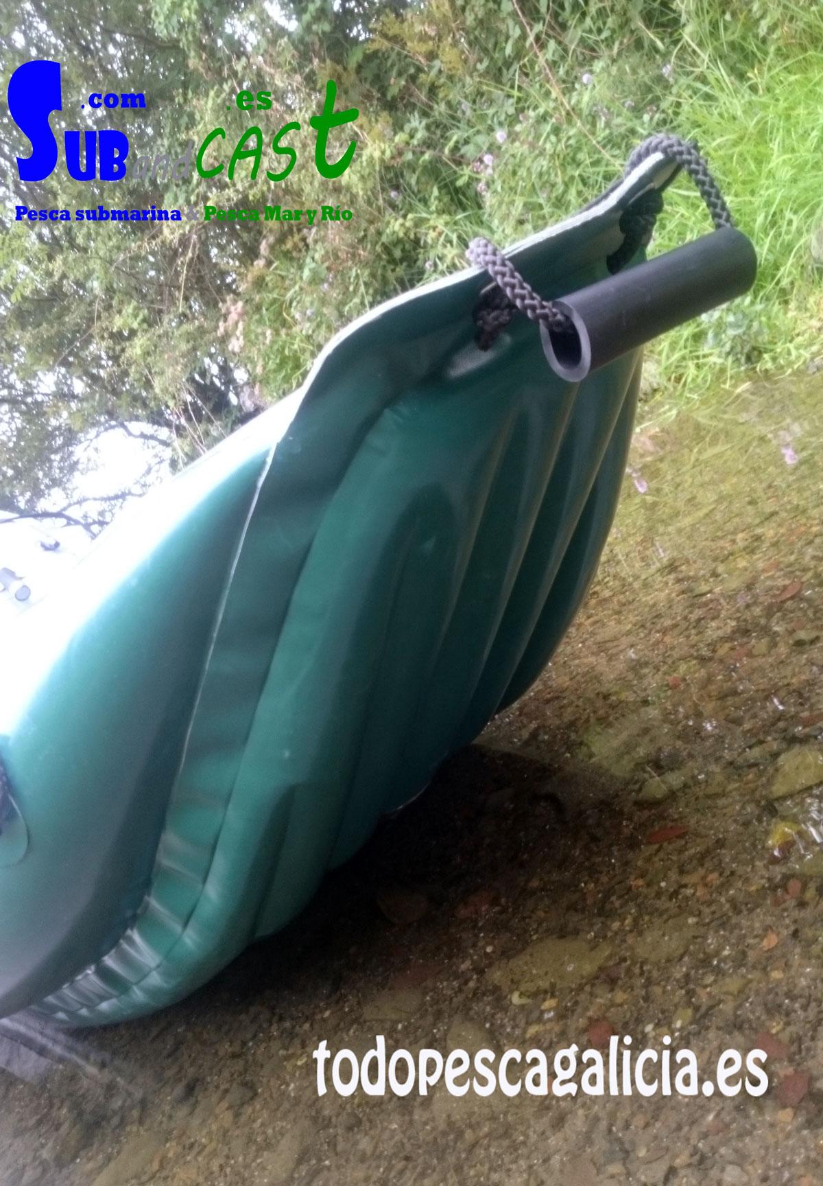 Detalle de la parte de detrás del kayak