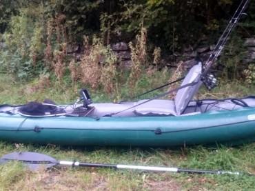 Inflatable fishing Kayak Gumotex Halibut