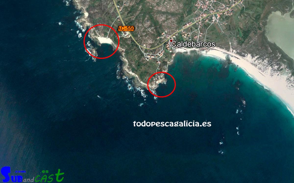 Zona de pesca submarina completa en Caldebarcos