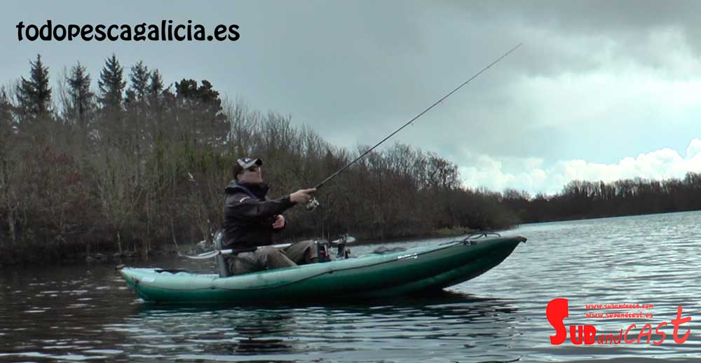 Lanzando en el Kayak