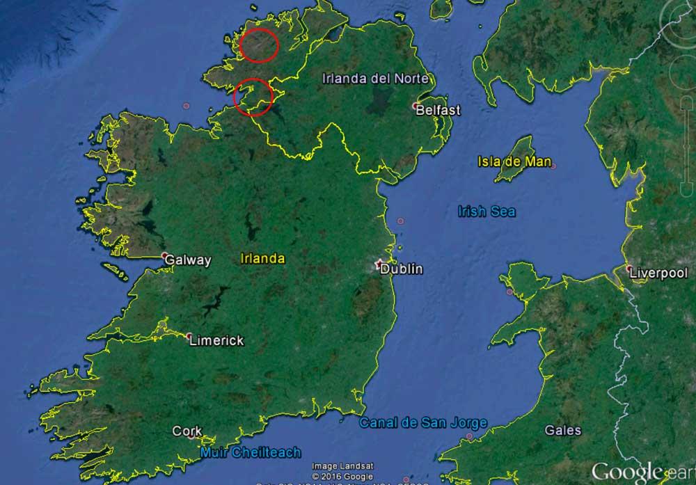 En este mapa podemos situarnos, en esos dos círculos rojos es a donde iremos a pescar.